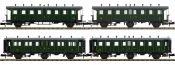 ausverkauft   PIKO 94343 Personenwagen-Set 4-tlg. 2./3.Kl. SBB   Spur N