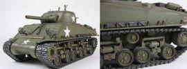 TAMIYA 56014 US Sherman M4 mit 105 mm Haubitze Full Option Bausatz 1:16 online kaufen