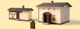 Auhagen 11457 Bahnwärterwohnhaus mit Nebengebäude Bausatz Spur H0 online kaufen