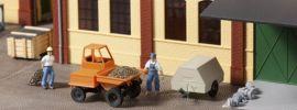 Auhagen 41641 Dumper mit Kompressoranhänger | Baumaschinen Modell 1:87 online kaufen