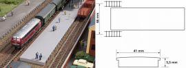 Auhagen 44641 Bahnsteig ohne Überdachung | Spur N online kaufen