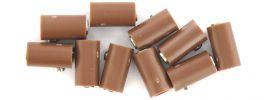 BRAWA 3044 Runde Muffen | 2,5 mm | Braun | 10 Stück online kaufen