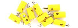 BRAWA 3051 Runde Querlochstecker | 2,5 mm | Gelb | 10 Stück online kaufen