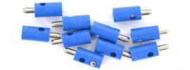 BRAWA 3055 Runde Querlochstecker   2,5 mm   Blau   10 Stück online kaufen