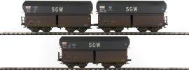 BRAWA 47032 Selbstentladewagen-Set 3-tlg. SVyw gealtert SNCF | Messe 2016 | Spur H0 online kaufen