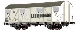 BRAWA 47282 Güterwagen Gbs 245 | DC | DB | Liebherr | Spur H0 online kaufen