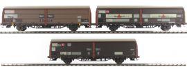 BRAWA 48953 3-teiliges Set  Schiebewandwagen Hbis 299 | DB | Spur H0 online kaufen