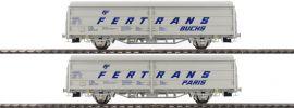BRAWA 48980 2-teiliges Set Schiebewandwagen Hbis FERTRANS | ÖBB | DC | Spur H0 online kaufen