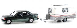 BREKINA 13215 Mercedes 190 E metallic dunkelgrün | Auto-Modell 1:87 online kaufen
