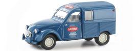 BREKINA 14186 Citroen 2CV Kastenente Sabena blau   Automodell 1:87 online kaufen