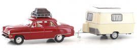 BREKINA 20871 Opel Kapitän mit Wohnwagen | Automodell 1:87 online kaufen