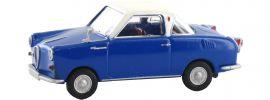 BREKINA 27858 Goggomobil Coupe blau weiss | Auto-Modell 1:87 online kaufen