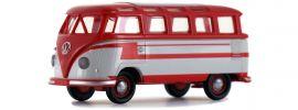 BREKINA 31843 VW T1b Samba rot hellgrau | Automodell 1:87 online kaufen