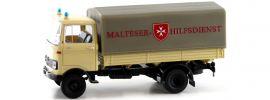 BREKINA 48576 Mercedes Benz LP 608 PP Malteser Hilfsdienst   LKW-Modell 1:87 online kaufen