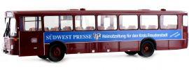 BREKINA 50633 Mercedes O 307 dunkelrot DB Südwestpresse | Bus-Modell 1:87 online kaufen