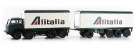 BREKINA 58432 Fiat 690 Millepiedi Kofferzug Alitalia | LKW-Modell 1:87 online kaufen