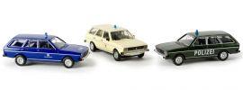 BREKINA 90412 Set Blaulicht mit VW Passat Polizei DRK THW | Automodell Spur H0 1:87 online kaufen