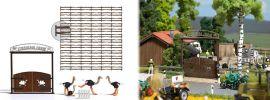 BUSCH 1038 Straussenfarm Bausatz Spur H0 online kaufen