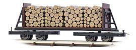 BUSCH 12247 Flachwagen mit Holzladung Feldbahnwagon 1:87 online kaufen