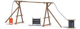 BUSCH 1375 Kabelbrücke mit Baustromverteiler Bausatz Spur H0 online kaufen
