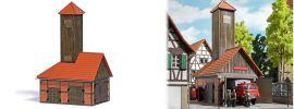 BUSCH 1453 Feuerwehrgebäude LaserCut Bausatz Spur H0 online kaufen