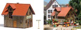 BUSCH 1512 Hofladen LaserCut Bausatz Spur H0 online kaufen
