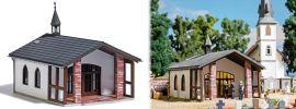 BUSCH 1566 Friedhofskapelle Bausatz Spur H0 online kaufen