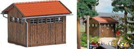 BUSCH 1586 Toilettenhaus ECHTHOLZ-Bausatz Spur H0 online kaufen