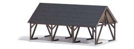 BUSCH 1677 Holzlager mit Zubehör LaserCut Bausatz aus Echtholz 1:87 online kaufen