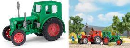 BUSCH Mehlhose 210006400 Traktor Pionier grün mit roten Felgen Landwirtschaftsmodell 1:87 online kaufen