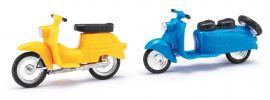 BUSCH 210008903 Berliner Roller Schwalbe gelb u blau 2 Stück Bausatz Spur H0 online kaufen