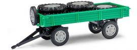 BUSCH Mehlhose 210010202 Anhänger T4 mit Ladung grün mit grauen Felgen Landwirtschaftsmodell 1:87 online kaufen