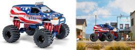 BUSCH 44657 Dodge Ram Van Monster-Truck Stars & Stripes Automodell 1:87 online kaufen