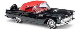 BUSCH 45238 Ford Thunderbird Cabrio schwarz mit rotem Verdeck Automodell 1:87 online kaufen