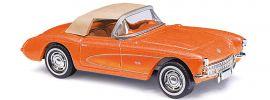 BUSCH 45428 Chevrolet Corvette Cabrio orangemetallic Automodell 1:87 online kaufen