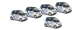 BUSCH 461355 Smart Fortwo 2007 Car 2 go Automodell 1:87 online kaufen