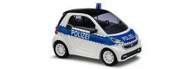 BUSCH 46208 Smart Fortwo Coupé 2012 Polizei Blaulichtmodell 1:87 online kaufen