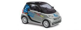 BUSCH 46216 Smart Fortwo 2012 Coupe silber  Zoll Automodell 1:87 online kaufen
