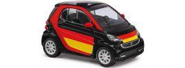 ausverkauft | BUSCH 46219 Smart Fortwo 2012 Fußball-Fan | Modellauto 1:87 online kaufen
