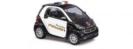 BUSCH 46223 Smart Fortwo Beverly Polizei   Blaulichtmodell 1:87 online kaufen