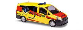 BUSCH 51115 Mercedes-Benz Vito Ambulanz Notarzt Blaulichtmodell 1:87 online kaufen