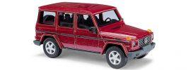 BUSCH 51405 Mercedes-Benz G-Klasse CMD-Ausführung rotmetallic Automodell 1:87 online kaufen