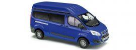 BUSCH 52501 Ford Transit Custom Hochdach Bus blau Automodell 1:87 online kaufen