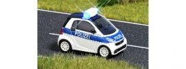 BUSCH 5623 Smart Fortwo Coupe 2012 Polizei mit Blinklichtern Blaulichtmodell 1:87 online kaufen