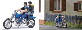 BUSCH 7860 Action Set US Motorrad mit Bikerpärchen Fertigmodell Spur H0 online kaufen