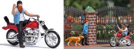 BUSCH 7861 Action Set US Motorrad mit Biker Fertigmodell Spur H0 online kaufen