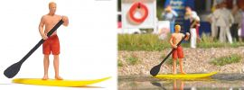 BUSCH 7864 Action Set Stand Up Paddling Fertigmodell Spur H0 online kaufen