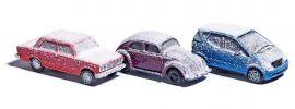 BUSCH 89010 Verschneite Autos | 3 Stück | Automodell 1:87 online kaufen
