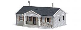 BUSCH 9731 US Polizeistation LaserCut Bausatz Spur H0 online kaufen