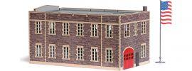 BUSCH 9732 US Feuerwache | Gebäude Bausatz Spur H0 online kaufen